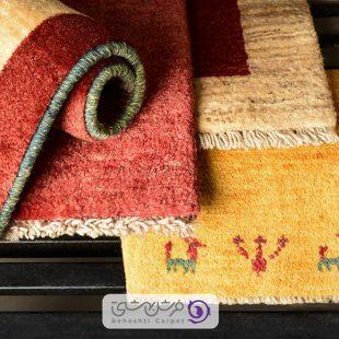 رنگ بندی متنوع فرشهای دستباف بهشتی