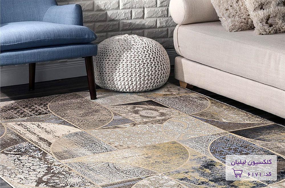 ست کردن فرشهای چند رنگ با مبل